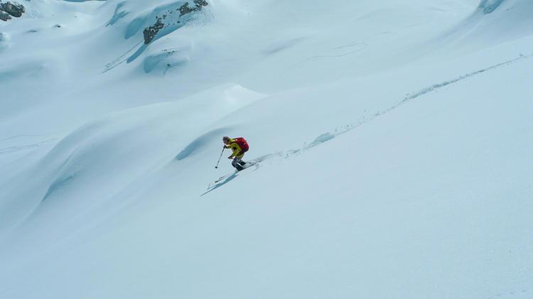 Abfahrt Auf Der Skitourenreise Montenegro
