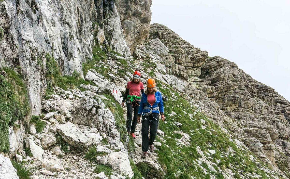 Abstieg Vom Klettersteig Seekofel In Corvara