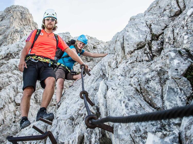 Abstieg Von Der Alpspitze Nach Dem Jubilaeumsgrat