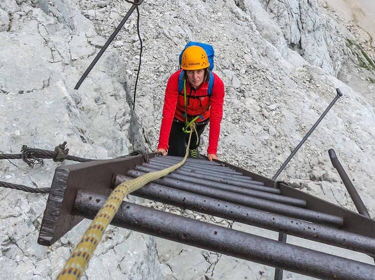 Alte Wege In Der Zugspitze Nordwand Eisenzeit