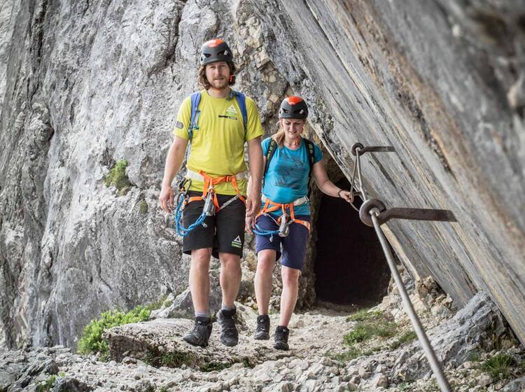 Am Ende Der Alpspitze Nach Dem Nordwandsteig