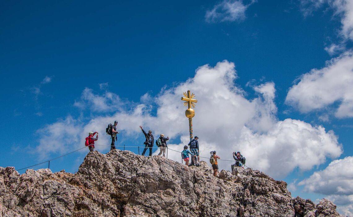 Am Gipfel Der Zugspitze Wanderung