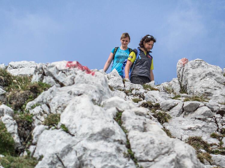 Anspruchsvoller Abstieg Nach Der Via Ferrata An Der Alpspitze