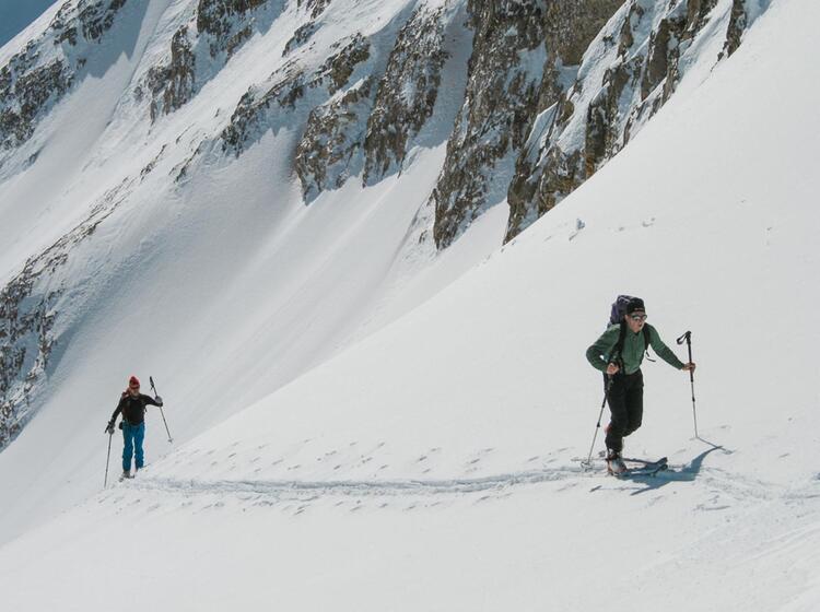 Anstieg Zur Neuen Welt Abfahrt An Der Zugspitze