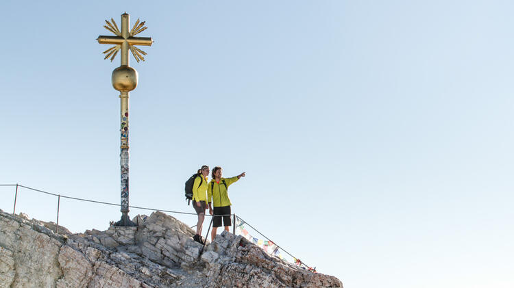 Auf Den Gipfel Der Zugspitze Ueber Das Hoellental