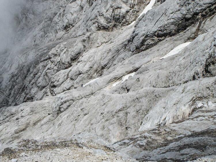 Auf Die Zugspitze Klettern Ueber Den Stopselzieher Klettersteig