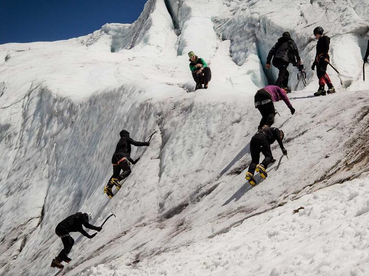 Ausbildung Am Gletscherkurs Fuer Einsteiger