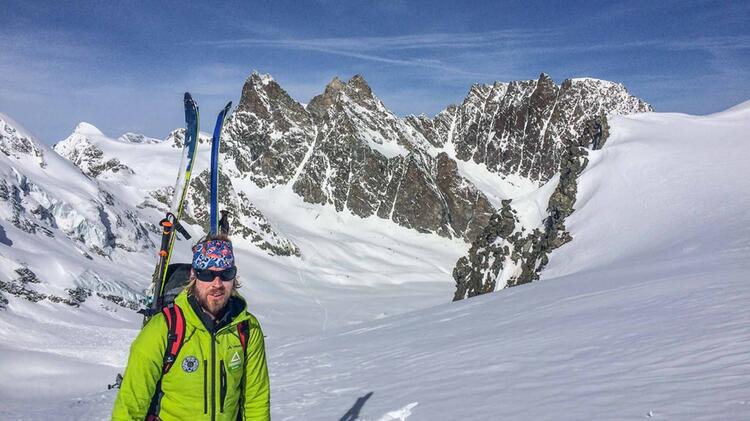 Bergfuehrer Oliver Specht Auf Der Haute Route Von Chamonix Nach Zermatt