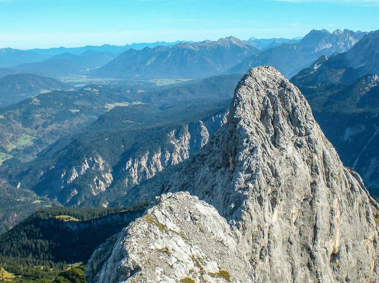 Blassengrat Und Jubilaeumsgrat An Der Zugspitze