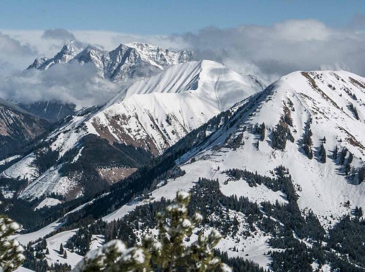 Blick Von Der Skitour Im Lechtal Bis Zur Zugspitze