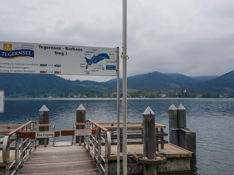 Bootfahrt Steg Tegernsee Wandern