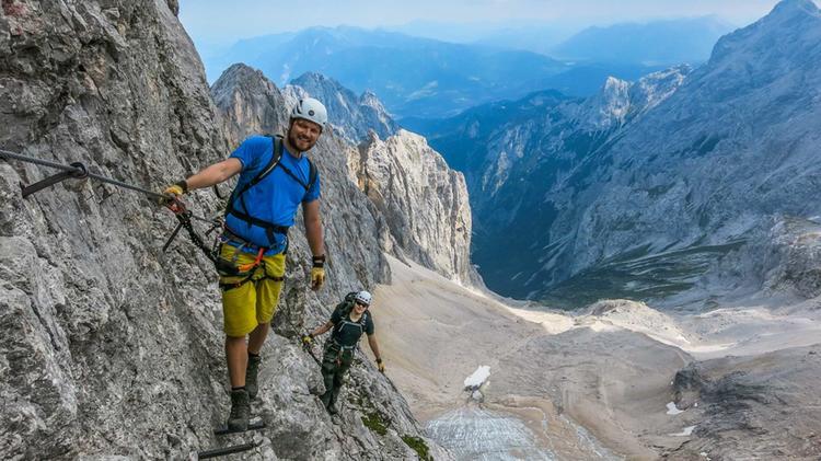 Das Hoellental Und Der Gletscher Vom Klettersteig Zur Zugspitze Gesehen
