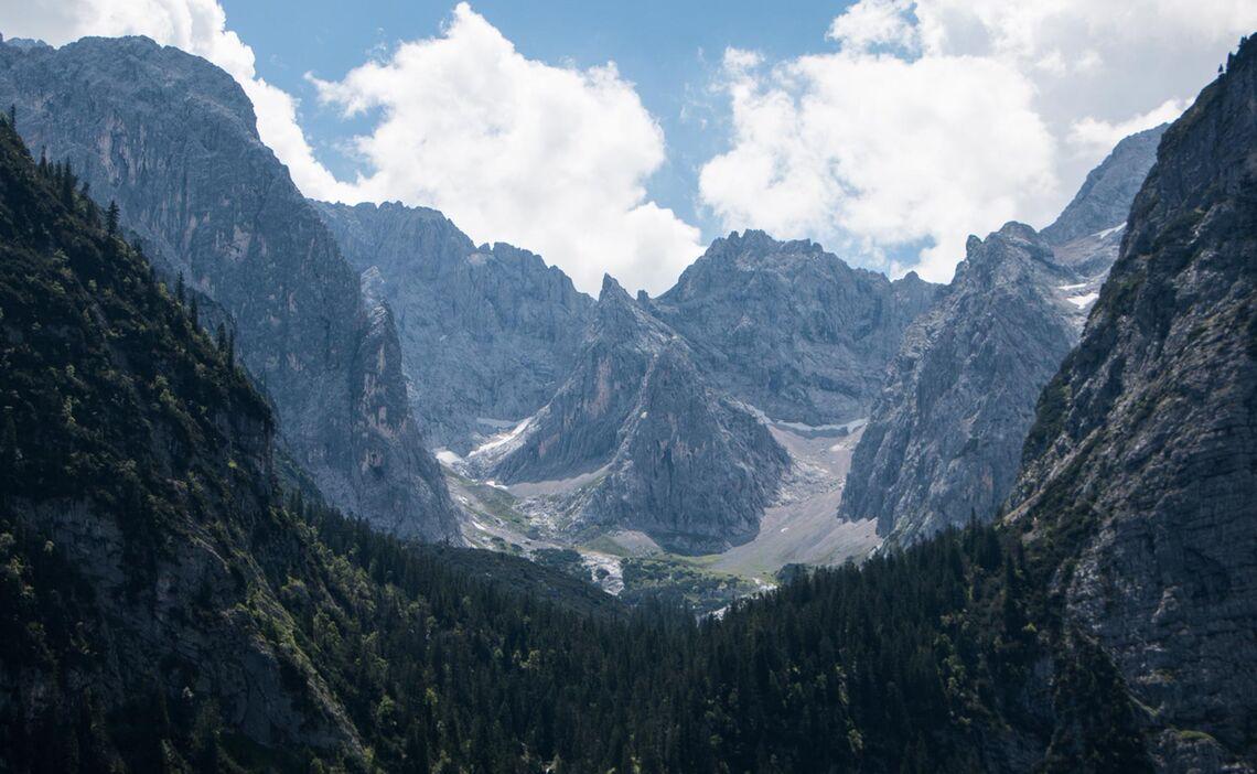 Das Oberreintal Im Wetterstein Auf Der Gefuehrten Wanderung Wettersteinrunde