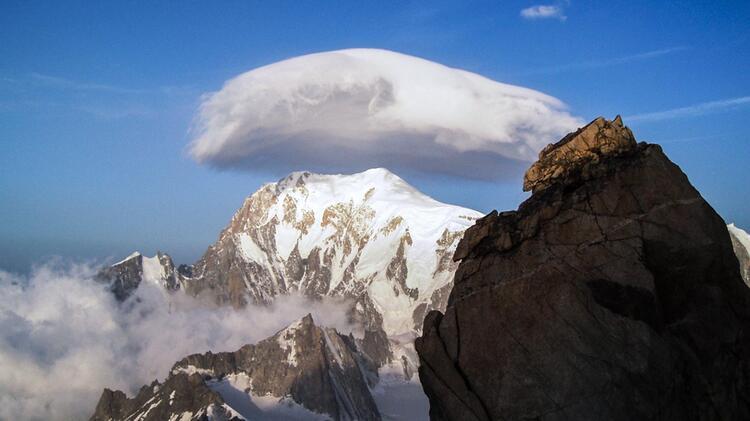 Der Mont Blanc Vm Rochefortgrat Aus Gesehen
