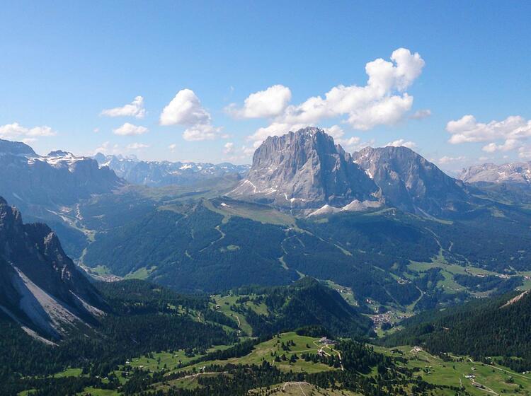 Der Sella Pass Wandern In Den Dolomiten
