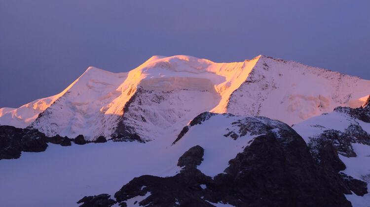 Die Drei Pfeiler Des Piz Palue In Der Bernina