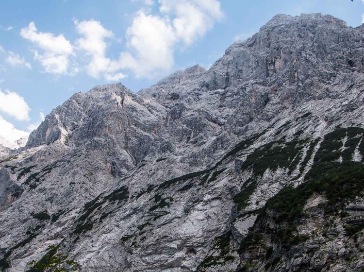 Die Hochwanner Nordwand Im Reintal An Der Zugspitze