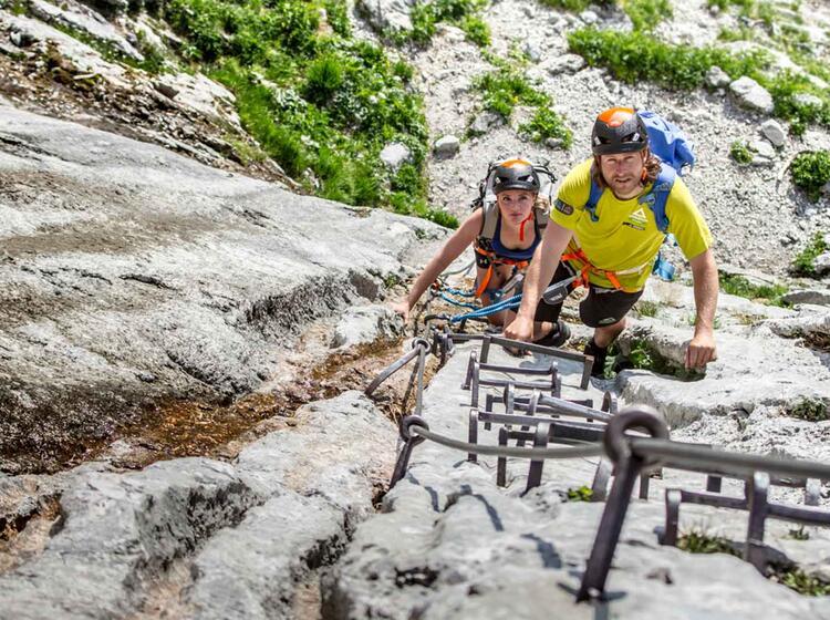 Die Leiter Am Beginn Des Hoellental Klettersteig