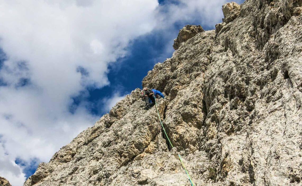 Die Letzte Seillaenge In Der Kasnapoff Am Zweiten Sellaturm