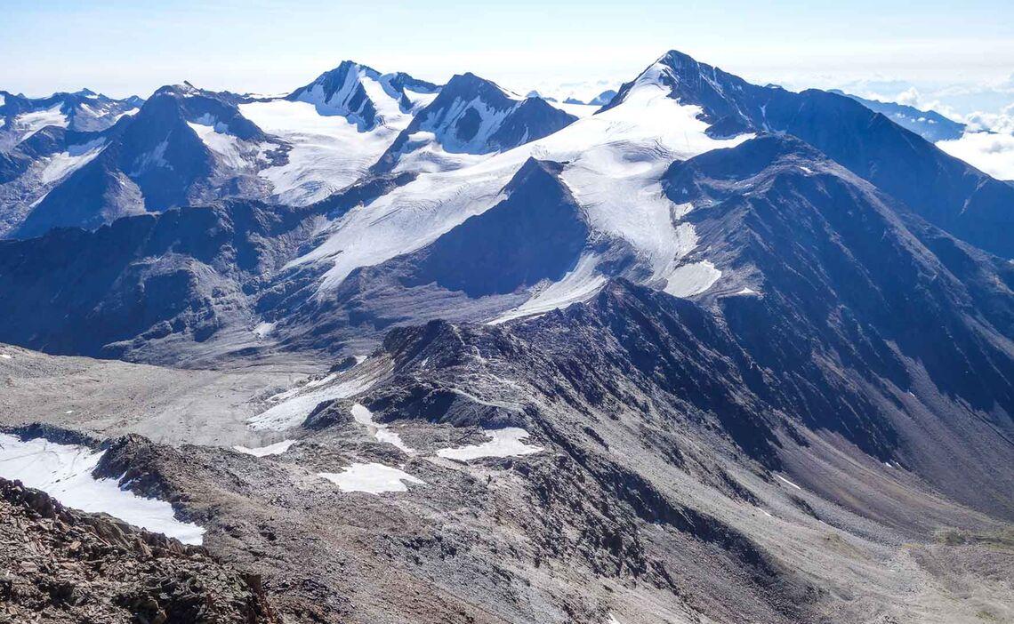 Die Venter Runde Als Hochtour Im Sommer Mit Bergfuehrer