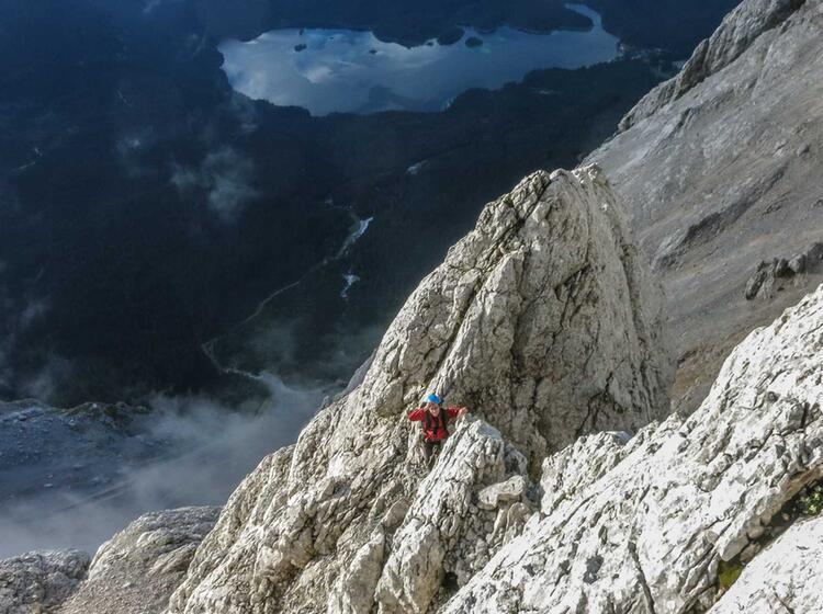 Die Zugspitze Nordwand