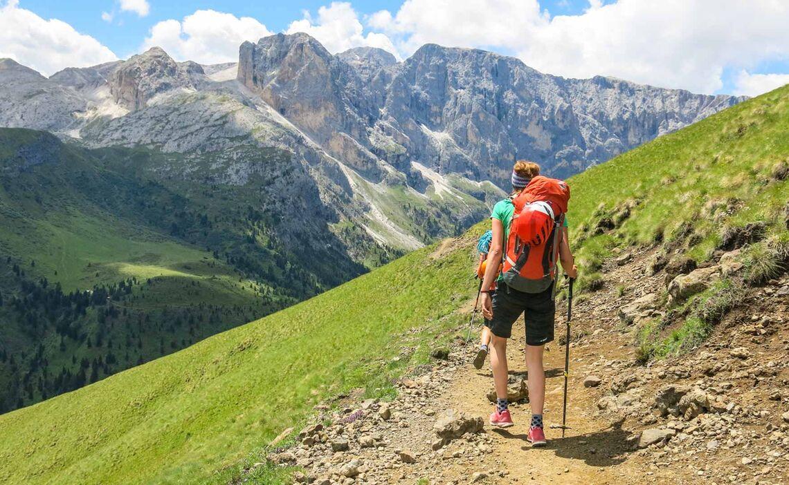 Dolomiten Wanderung Durch Den Rosengarten