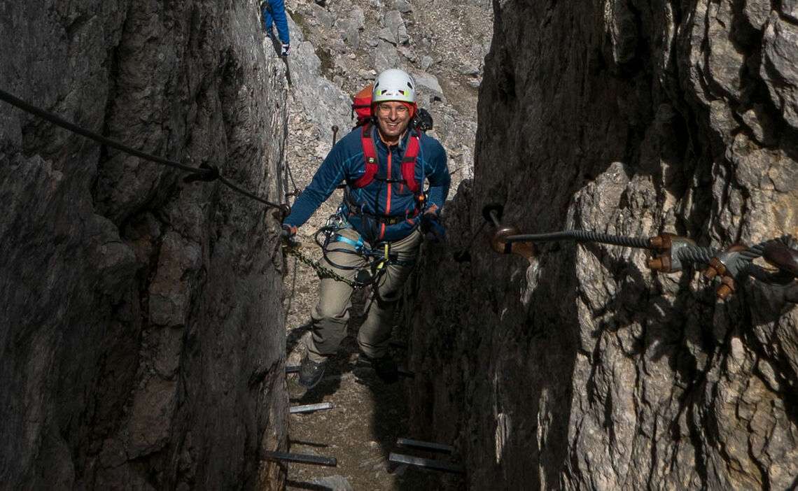 Einfacher Klettersteig Im Karwendel Mittenwalder Hoehenweg