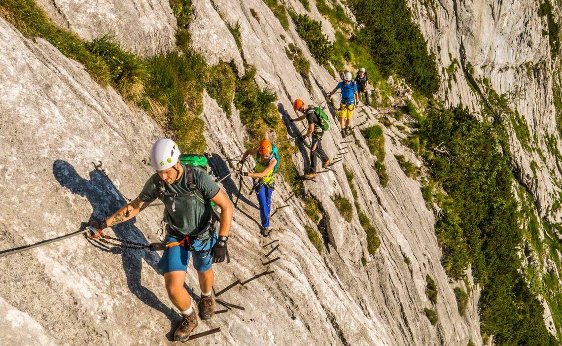 Klettersteig Zugspitze Höllental : Zugspitze höllental klettersteig mit bergführer
