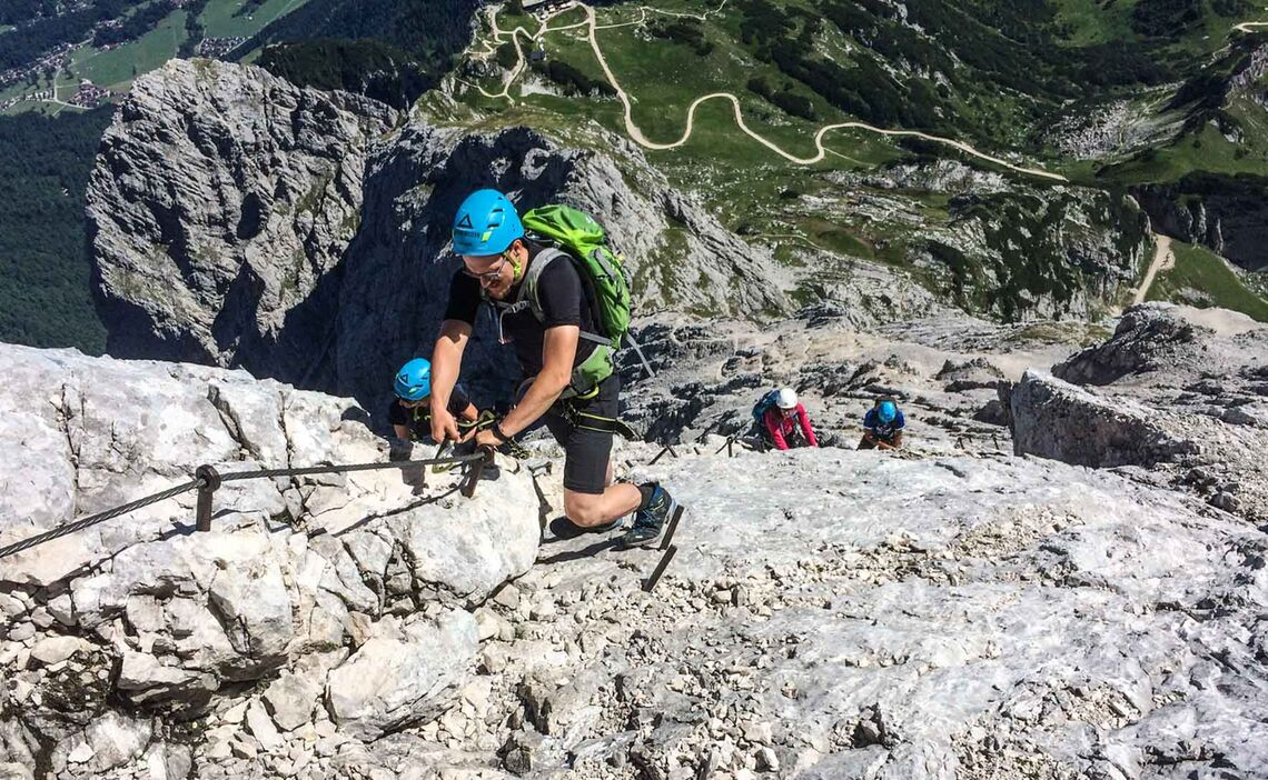 Klettersteig Ferrata : Alpspitze klettersteig via ferrata