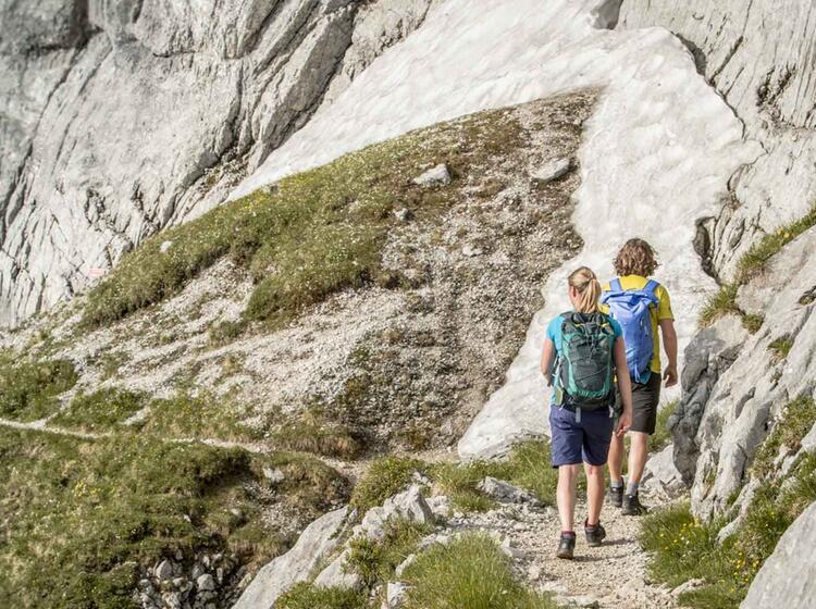 Einstieg Der Via Ferrata An Der Alpspitze