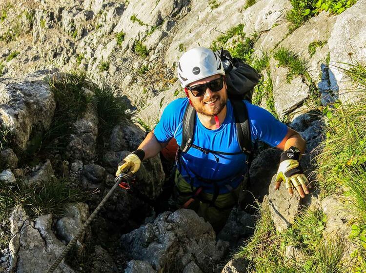Einstieg In Den Klettersteig Zur Zugspitze