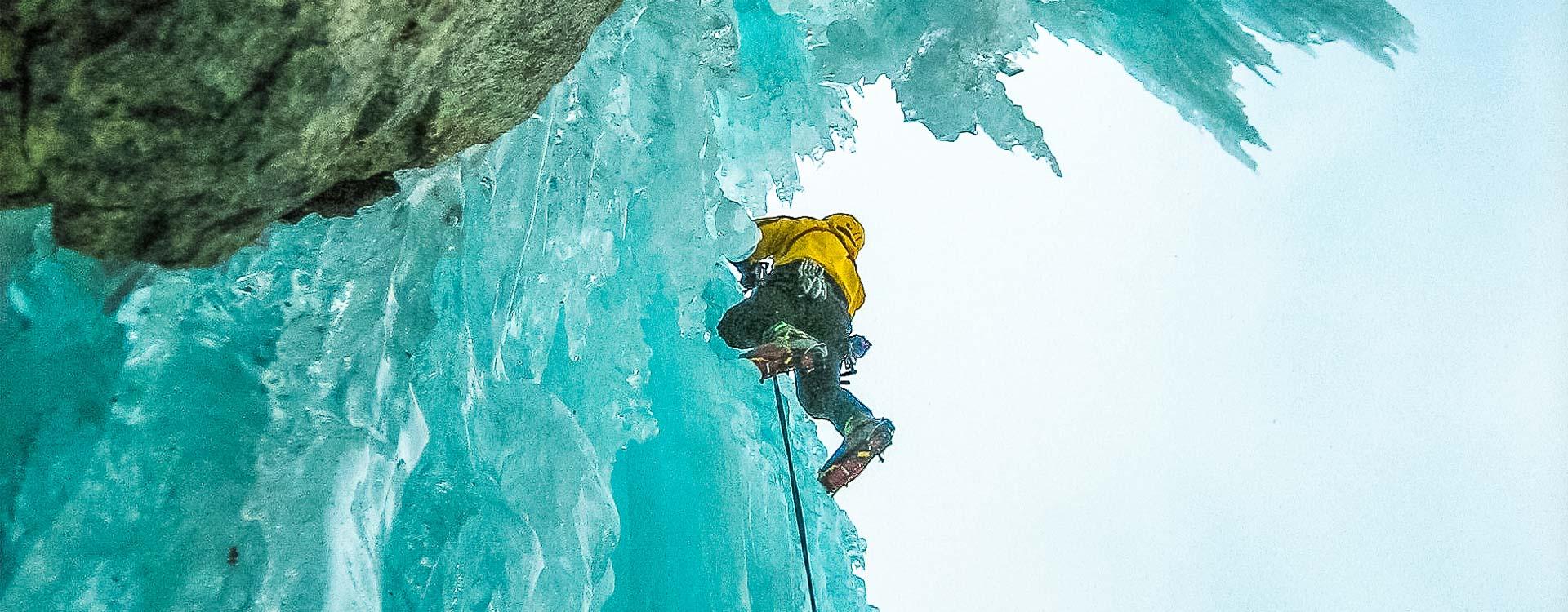Eiskletter Fuehrung und Kurs mit Bergfuehrer