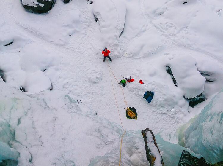 Eisklettern In Mehrseilla Ngen In Norwegen