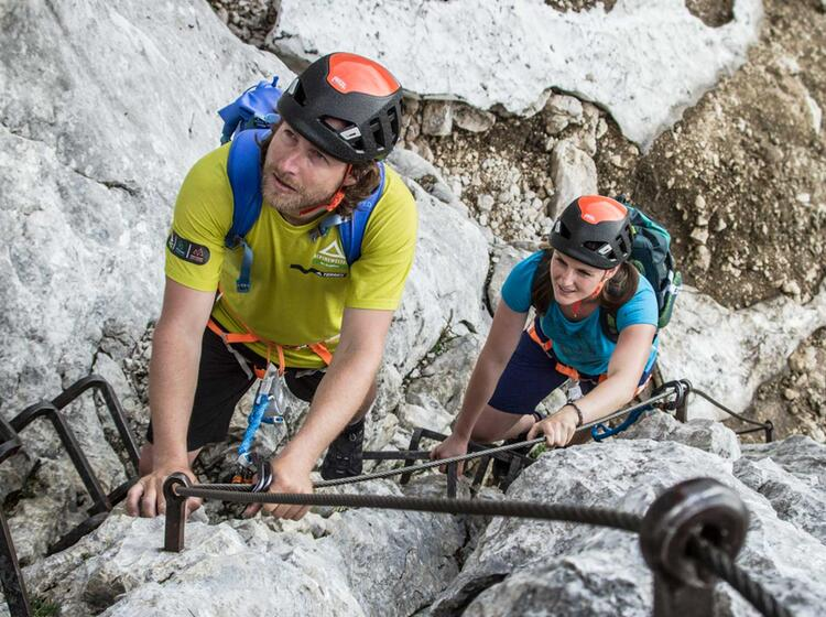 Klettersteig Via Ferrata : Grosser klettersteig leukerbad via ferrata daubenhorn