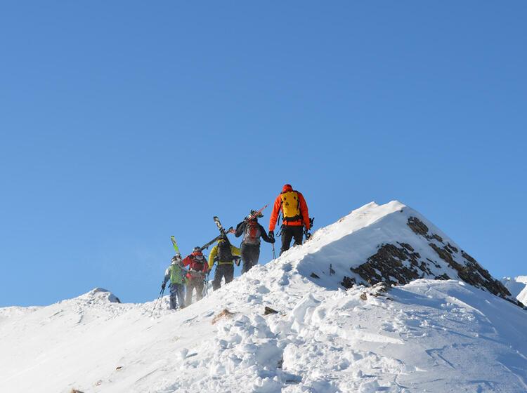 Freeriden Innsbruck Am Gipfelgrat