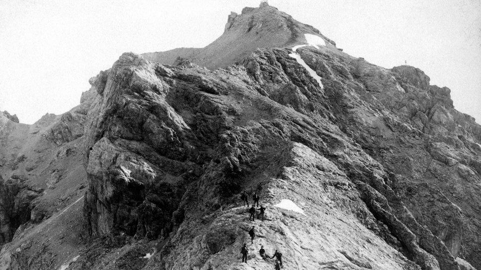 Frueherer Anstieg zur Zugspitze