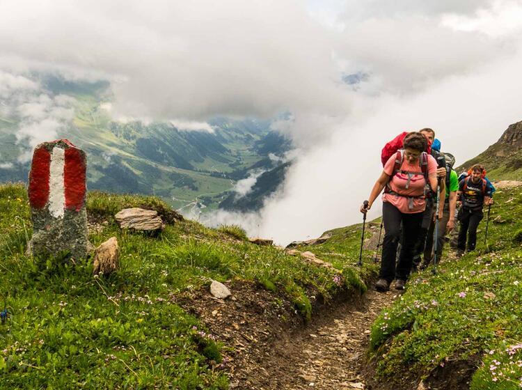 Gefuehrte Bergwanderung Ueber Die Alpen