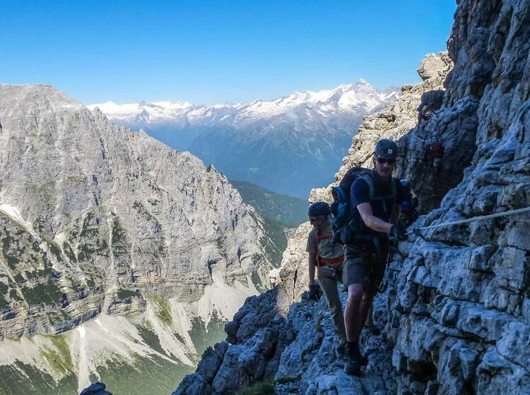 Gefuehrte Klettersteige In Der Brenta Sentiero Sosat