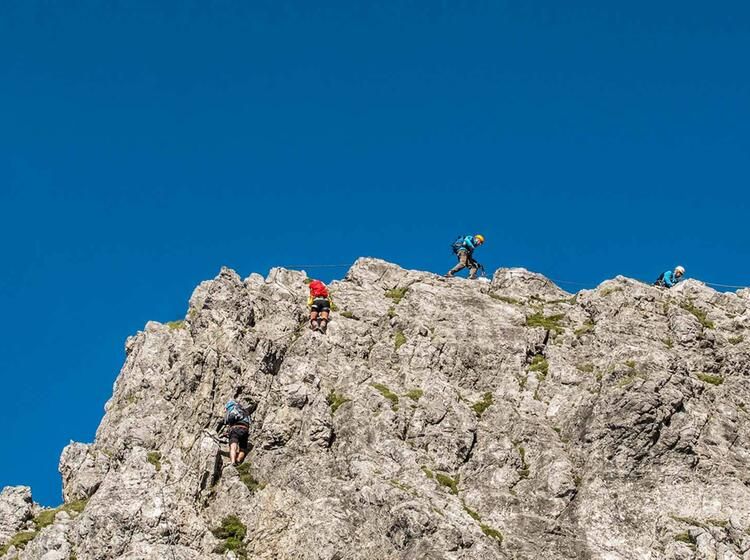 Gefuehrte Klettersteigtour Am Koenigsjodler