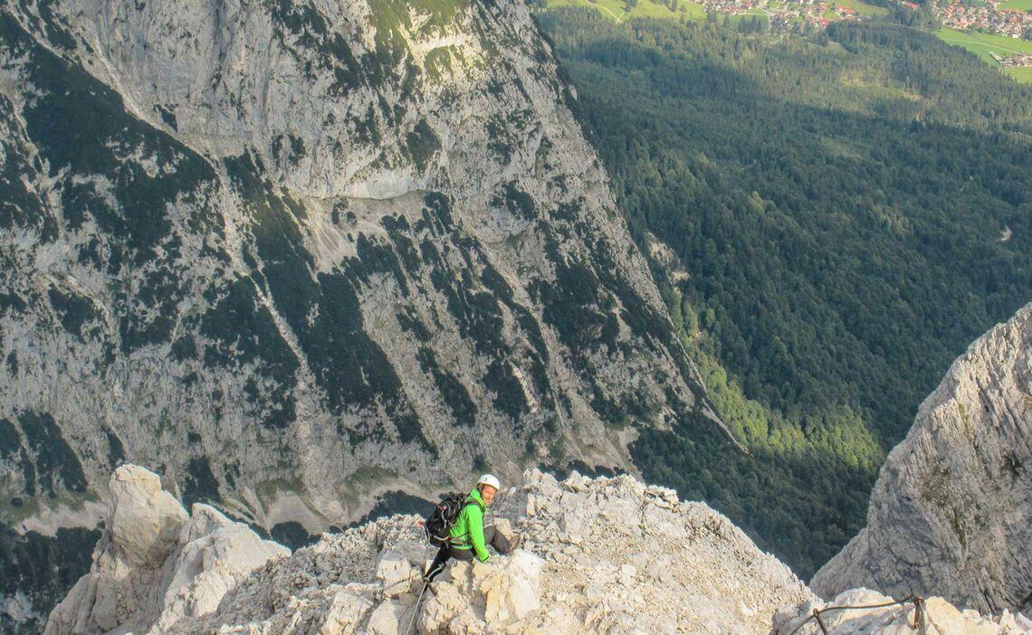 Klettersteig Alpspitze : Alpspitze garmisch klettersteigführung mit bergführer