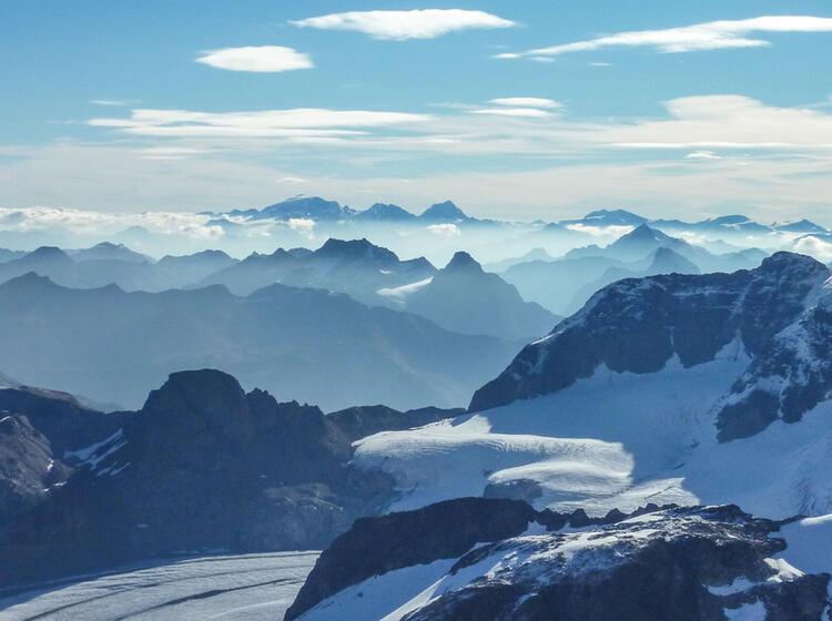 Gipfel Ausblick Vom Piz Bernina
