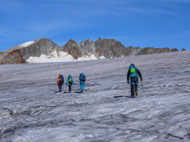Gletscher Hochtour Wildspitze Im Oetztal