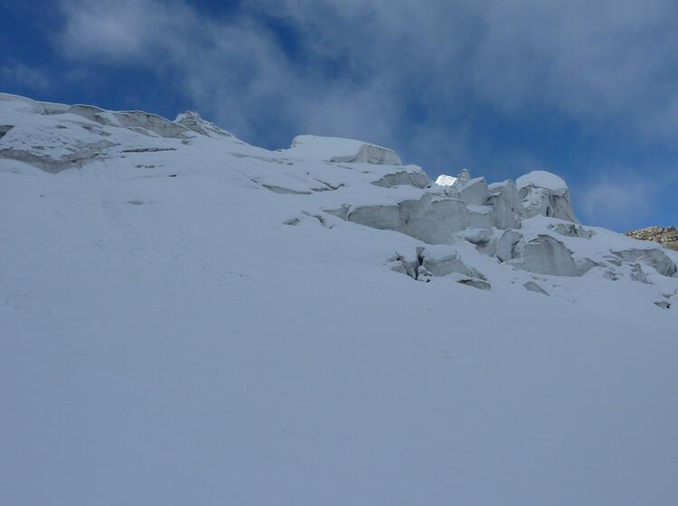 Gletscherbruch Am Piz Palue Im Abstieg Zur Diavolezza