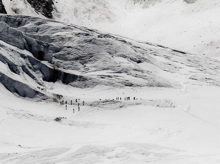 Hochtourenkurs Und Gletscherkurs Auf Dem Taschachhaus Im Oetztal