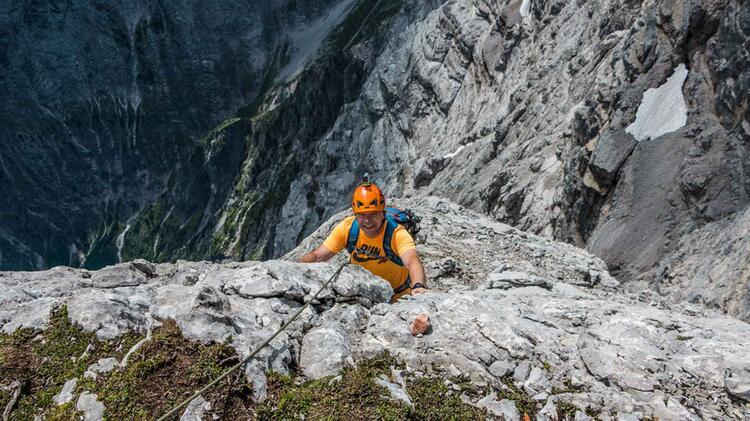 Hochwanner Nordwand Klettern