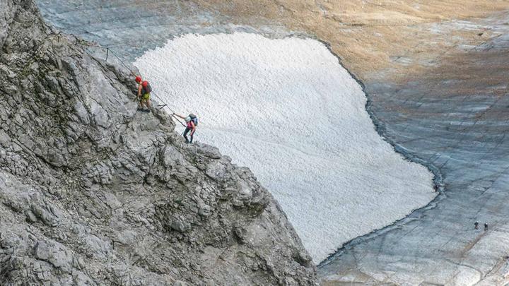 Klettersteigset Dav Leihen : Verhältnisse an der zugspitze