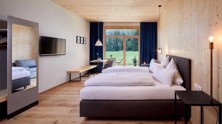 Hotel Lechzeit Schlafzimmer