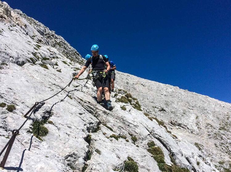 Im Abstieg Vom Klettersteig Alpspitze
