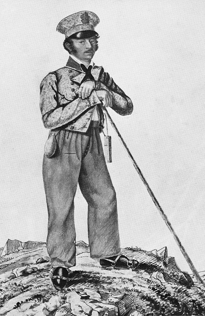 Josef Naus Erstbesteiger Zugspitze