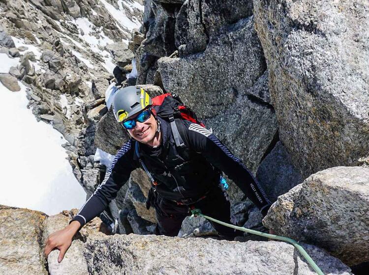 Kletterei Am Cosmique Grat Auf Der Hochtourenwoche Gut Vorbereitet Auf Den Mont Blanc